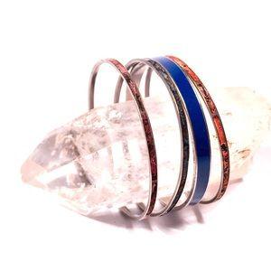 Four Piece Boho Bangle Bracelet Set